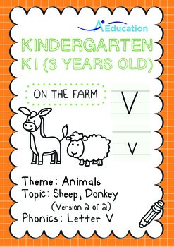 Animals - Sheep, Donkey (II): Letter V - K1 (3 years old)