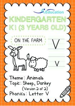 Animals - Sheep, Donkey (II): Letter V - K1 (3 years old)