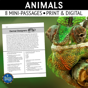 Animals Short Reading Passages