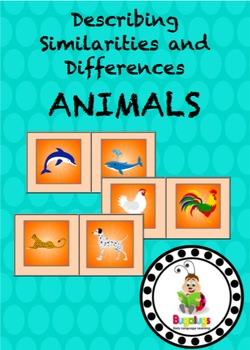 Animals Similarities and Differences Spinning Wheel Semantics Game