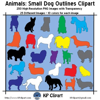 Animals Small Dog Outlines Clipart