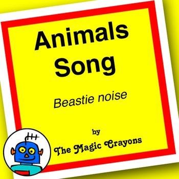 English Animals Song 1 for ESL, EFL, Kindergarten. Duck, horse, pig, cow