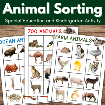Animals Sorting - Farm, Zoo and Ocean Animals