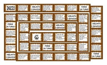 Animals Spanish Board Game