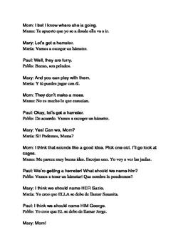 Spanish/English Conversations 3 Ways: Animals