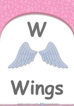Animals - Stripes & Spots : Letter W : Wings - Pre-Nursery (1 year old)