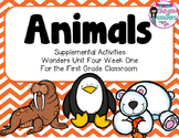 Animals- Supplemental Activities for Wonders Unit 4 Week 1
