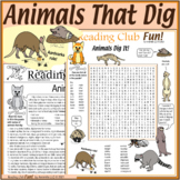 Animals That Dig – Fun Puzzle Set with Vocabulary-Rich Wor