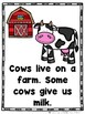 Animals That Live on a Farm  (A Sight Word Emergent Reader and Lap Book)
