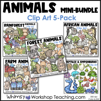 Animals - The BIG Bundle (212 graphics) Whimsy Workshop Teaching