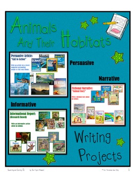 Animals & Their Habitats, Writing Projects