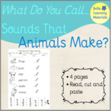 Animals & Their Sounds - Read, Cut, Paste