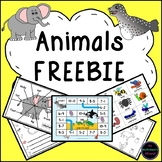 Animals Theme Freebie: Games, Activities and More!