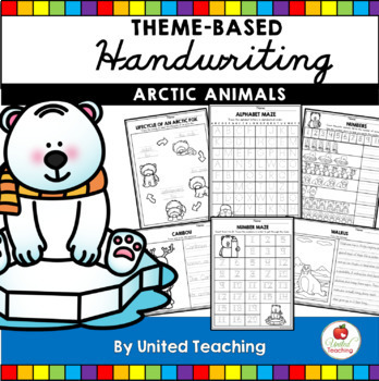 Animals Theme Based Handwriting Lessons Growing Bundle (Manuscript Edition)
