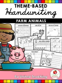 Animals Theme Based Handwriting Lessons Growing Bundle (Manuscript Edition)