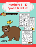 Animals Themed - Numbers 1 - 10 Spot It and Dot It !