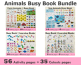 Animals Themed Toddler Busy Book Bundle | Learning Folder