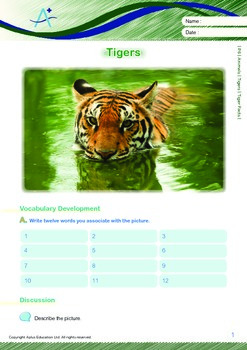 Animals - Tigers: Tiger Facts - Grade 6