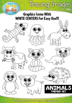 Animals Tracing Image Clipart Set 2 {Zip-A-Dee-Doo-Dah Designs}