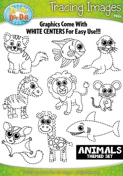 Animals Tracing Image Clipart Set 1 {Zip-A-Dee-Doo-Dah Designs}