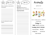 Animals Trifold - 4th Grade Literacy by Design Theme 3