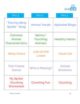 Animals Activities Unit