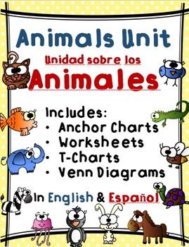 Animals Unit / Unidad sobre los Animales - Dual Language English & Spanish