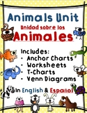 Animals Unit / Unidad sobre los Animales - Dual Language E