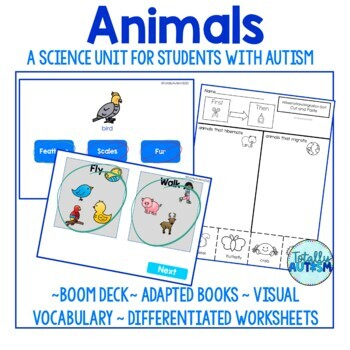 Animals Unit for Special Ed