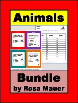 Animals Variety Task Card & Worksheet Bundle