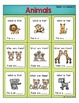 ESL Vocabulary Bingo: Animals