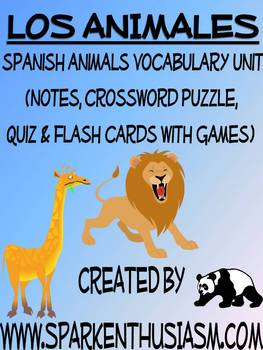 Animals Vocabulary Lists, Activities, Crossword, Games, an