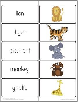 Animals Vocabulary Match Activity