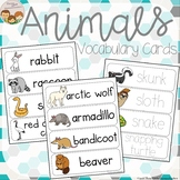 Animals Vocabulary Word Wall Cards plus Write and Wipe Version - 130 Animals