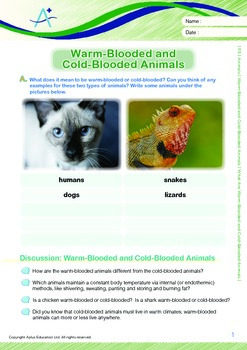 Animals - What Are Warm-Blooded and Cold-Blooded Animals - Grade 5