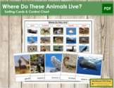 Animals: Where Do They Live? - Sorting Cards & Control Chart