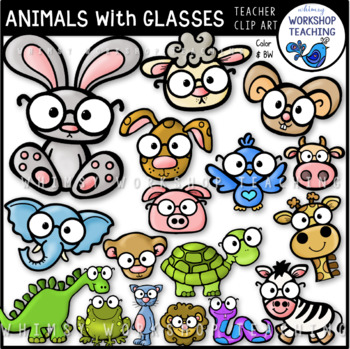 Animals With Glasses Clip Art