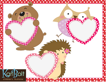 Animals With Valentines Clip-Art/Printables