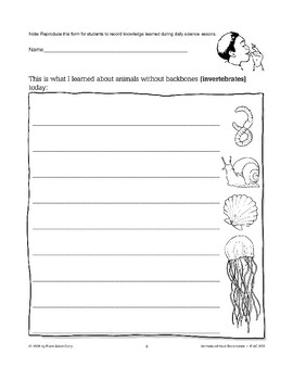 Animals Without Backbones: Using Logbooks