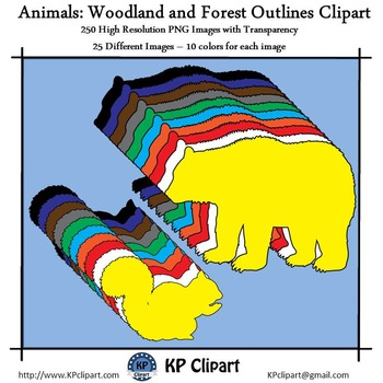 Animals Woodland and Forest Animals Outlines Clipart
