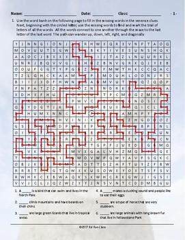 Animals Word Maze