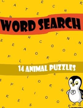 Animals Word Search Workbook