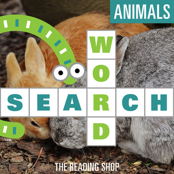 Animals Word Search for Primary Grades - Wordsearch Puzzle