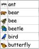 Animals Word Wall