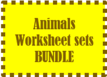 Animals Worksheet sets in French Bundle