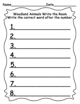 Animals Write the Room Bundle