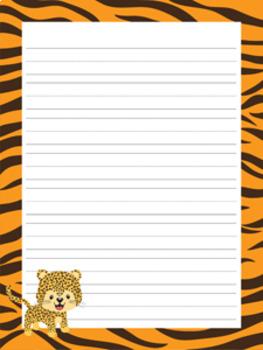 Animals Writing Paper Bundle Set 1