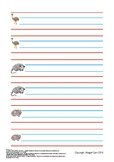 Animals Writing on Lines