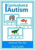 Animals Yes No Cards, Autism, Special Education, Speech Therapy, ESL