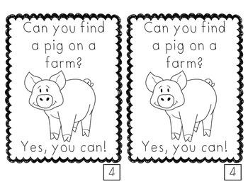 Animals You Can Find on a Farm emergent reader FREE